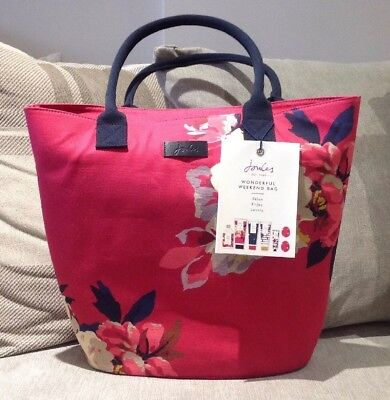 Joules Womens Weekend/Overnight/Beach Bag & Joules Toiletries Gift Pink Bnwt