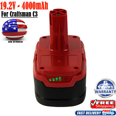 For Craftsman 19.2V 4.0AH Lithium-ion C3 Diehard XCP Battery 11375 PP2025 PP2030