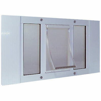 "Perfect Pet 33-38"" Sash Window Pet Door in White"