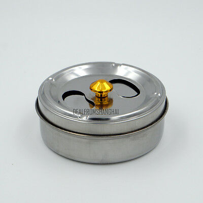 Stainless Steel Ash Tray Cigarette Smoking Ashtray Spinning Top Bar Restaurant