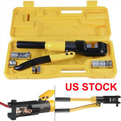 1 Pressure Hydraulic Wire Battery Cable Lug Terminal Crimper 4-70m2 5-6Ton Max