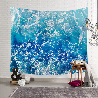 Seascape Ocean Waves Tapestry Hippie Bohemian Print Wall Hanging Home Décor HI