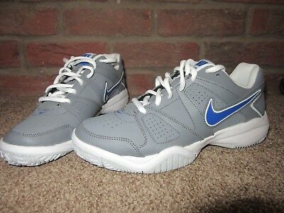 sports shoes dca99 cda14 NEW UK 5.5 Mens NIKE Trainers With Court Lace Up Grey Blue White Teenage  Boys