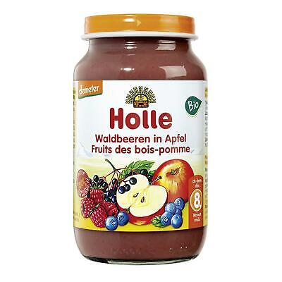 12x Holle Baby Food Bio Waldbeeren in Apfel demeter 220g