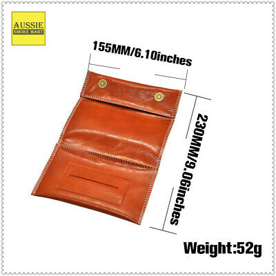 230MMX155MM -3 FOLDER Soft PU Leather Premium Quality Tobacco Pouch
