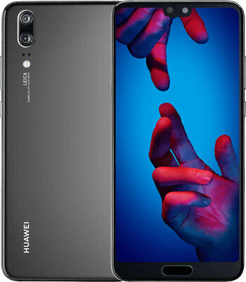 Huawei P20 128GB 4GB RAM Single Sim Black, Neuwertig