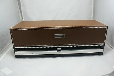 Discgear Selector 120 Faux Leather Brown CD DVD Blu-Ray Storage Case. Nice!