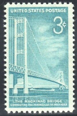 US SC # 1109 3c MACKINAC BRIDGE 1958 MNH OG VF