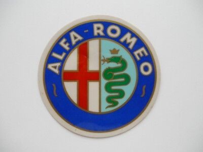 Alfa Romeo - Autocollant 90 mm made in Italy - badge logo emblème oldtimer