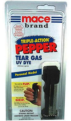 Mace DELUXE Triple Pepper Spray Self Defense PROTECTION 18G SEE RESTRICTIONS ;
