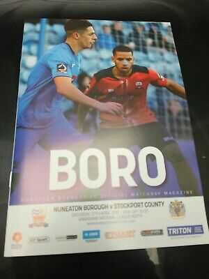 Nuneaton Borough v Stockport County National League Conf North 27/4/19 2018/19