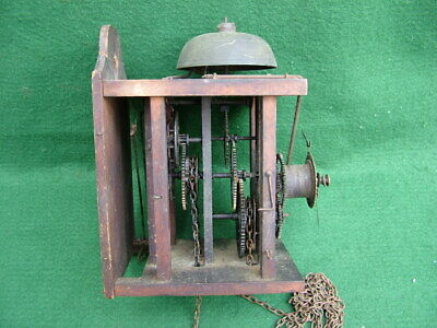 Antique Mayer Black Forest Postman's Alarm Wall Clock Movement Only Working