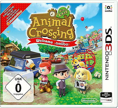 Animal Crossing New Leaf Welcome amiibo Nintendo 3DS Game Spiel + Karte Neu OVP
