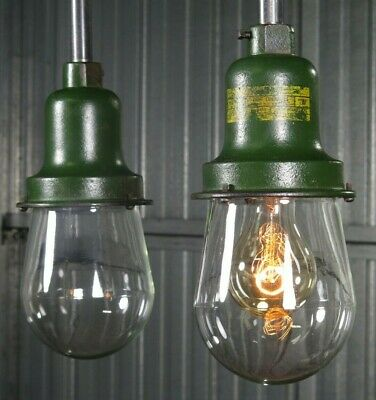Vtg 1940s WESTINGHOUSE DUST TIGHT explosion proof industrial light - 4 avail.