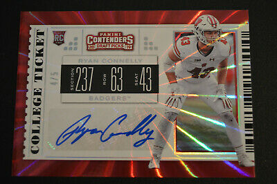 Ryan Connelly 2019 Contenders Draft Picks Rookie Auto Ssp 4/5 Badgers /Giants