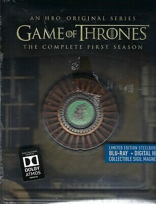 Game of Thrones: The Complete First Season SteelBook w/Magnet (Region A) - READ!