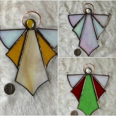 Handmade Stained Glass Angels Art Deco  Decoration Suncatcher