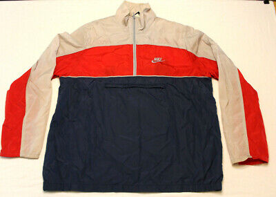 ae8eb495d3d Vintage 90s Nike Pullover Windbreaker Jacket Men large color block anorak  jacket