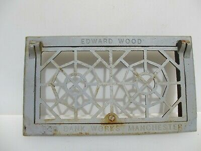 """Iron Air Brick Vent Grille Grate Antique STYLE Old 14""""x8"""""""