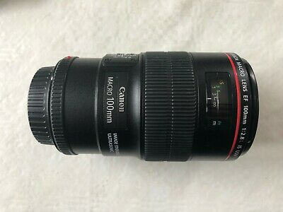 Canon EF 100mm 2.8 L IS USM Macro Lens EOS L-series, excellent optical perform