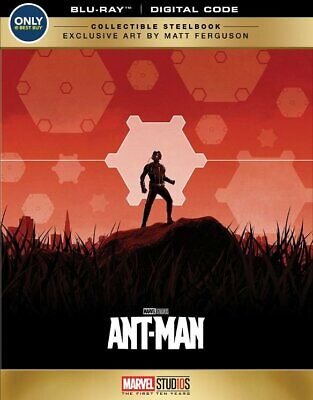 Brand New! Marvel Ant-Man Collectible Steelbook Edition (Blu-Ray + Digital)