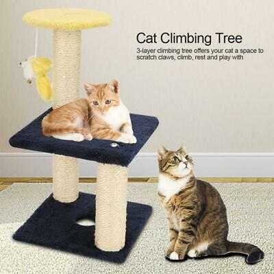 Home Pet 3 Layer Cat Climbing Tree Scratching Post Board Hanging Toy Activity