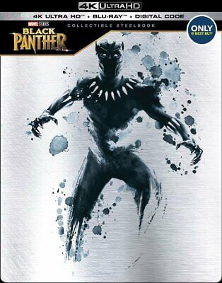 New! Marvel - Black Panther Collectible Steelbook (4K UHD + Blu-Ray + Digital)