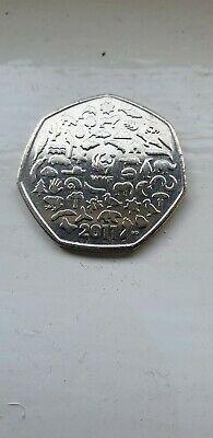 2011 World Wildlife Fund (WWF) 50th Anniversary Fifty Pence (50p) Coin.
