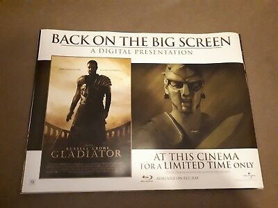 Gladiator movie original UK quad poster D/S rolled Russell Crowe