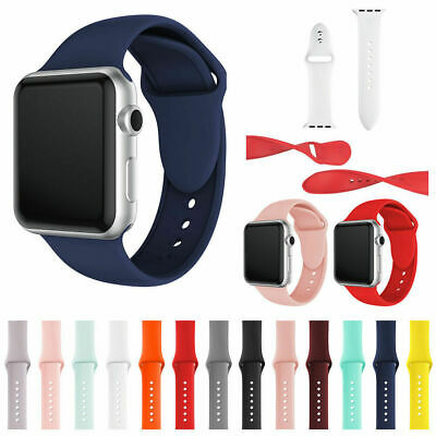 Soft Silicone Band Replacement Straps For Apple Watch 1, 2, 3, 4 38/40/42/44mm