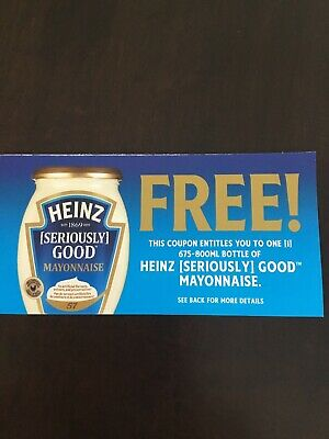 LAST LOT of 5!  Heinz Mayonnaise coupons CANADA only