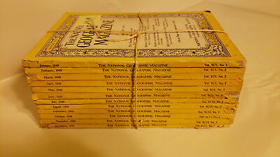 National Geographic Magazine 1949 Complete Year