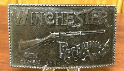 Vintage Winchester Repeating Arms Belt Buckle New Haven Conn