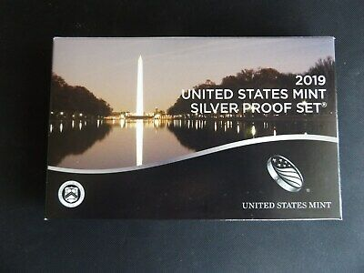 2019 S United States Mint Silver Proof Set 10 Coin (No Extra W Cent)