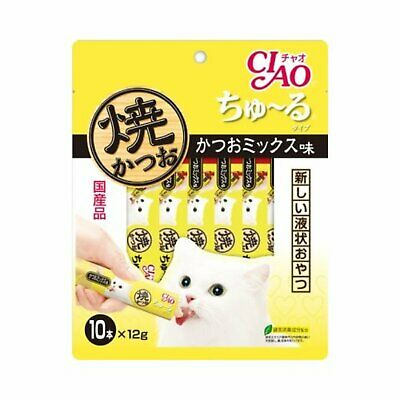 INABA CIAO Catfood Churu Cat Lick Snacks Fillet bonito mix taste 12g?~10p F/S