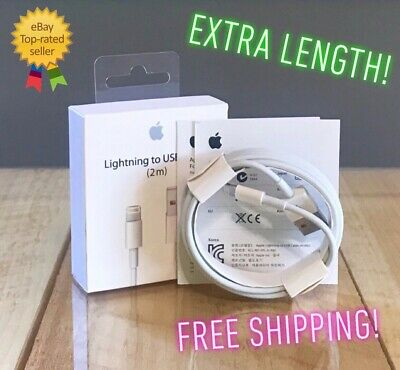 New Original OEM Apple Lightning To USB Charging Cable iPhone 5 6s Plus 7 2m/6ft