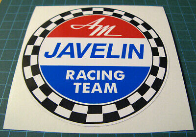 "American Motors Javelin Racing Team 4"" Vinyl Decal Sticker -Scca-Trans Am Racing"