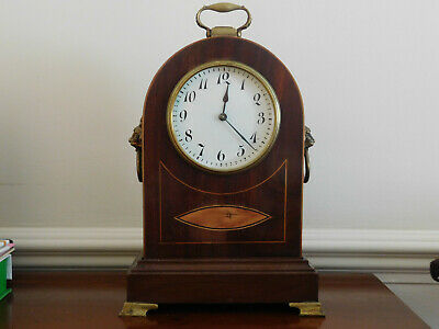 Antique Bracket Clock With Inlay And Brass Fittings. For Restoration.