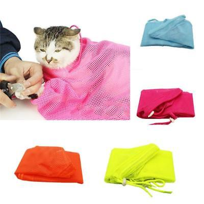 Pet Cats Nail Clipping Cleaning Black Cat Grooming Bag Portable Restraint Bag D
