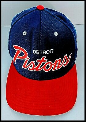 sports shoes ff3a7 89517 Detroit Pistons Vintage Snapback Hat NBA Mitchell   Ness Hardwood Classics  Men s