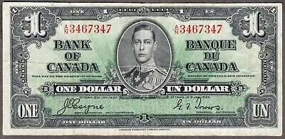1937 Bank of Canada  - $1.00 Bank Note - Very Fine - Coyne Towers  A/N 3467347
