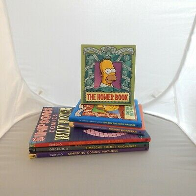 The Simpsons Humor/Comedy Books  Lot Of 6 Homer Bart Marge Comics Wisdom