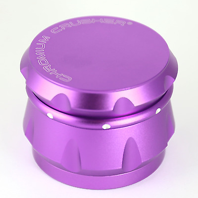 Chromium Crusher Drum 2.5 Inch 4 Piece Tobacco Spice Herb Grinder - Purple