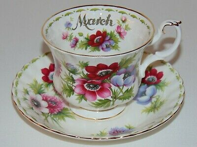 Vintage Royal Albert March Flower of the Month  Tea Cup & Saucer Set