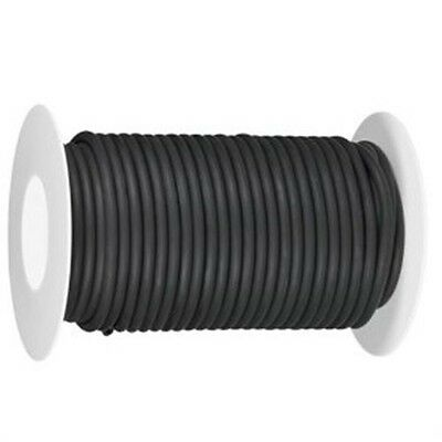 "50 CONTINUOUS Feet 1/8"" I.D x 1/16"" w 1/4"" O.D Natural Latex Rubber Tubing Black"