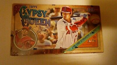 2019 Topps Gypsy Queen MLB Baseball HOBBY BOX - 24 PACKS - TWO Autograph cards
