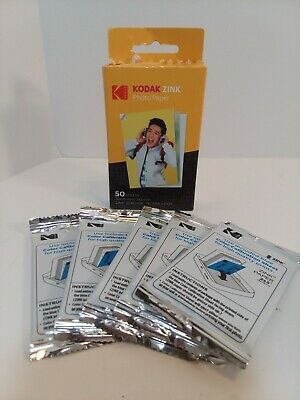 50 Pack Kodak ZINK Photo Paper 2×3 inch Zero Ink Technology New in opened box.