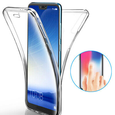 360°Full Body Clear Silicone Phone Protect Case Cover For Huawei P20 P30 Series