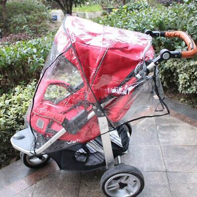 Outdoor Waterproof Rain Cover Wind Dust Shield For Baby Strollers Pushchairs US
