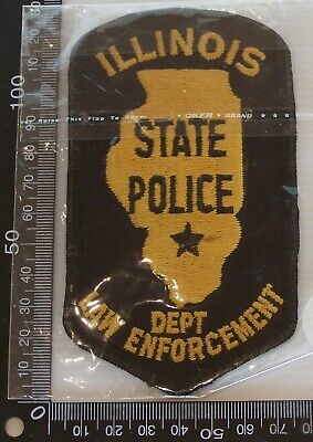 Vintage Illinois State Police Embroidered Patch Woven Cloth Sew-On Badge